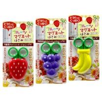 [리빙도쿄] 과일모양 자석캡 미니 가위 냉장고 자석