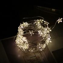 LED50구와이어별전구(건전지형)