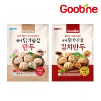 굽네 닭가슴살 만두 390g 2종 혼합 2팩_FI02 (오리지널1+김치1)