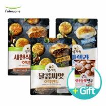 [★증정행사] 사천식매콥 + 달콤씨앗 + 모짜렐라 호떡만두 (총 3봉) + 새우듬뿍만두30