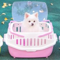 펫토리아 강아지 고양이 이동장 13302L 핑크 캐리어