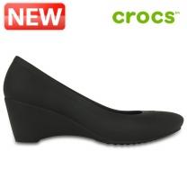 크록스 여성화 /D- 203408-001 / 우먼스 Crocs Lina Wedge 여성용 웨지힐 패션화 캐주얼화