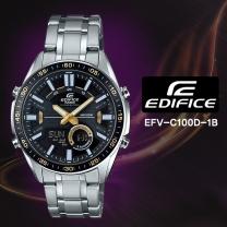 [CASIO] 카시오 에디피스 EFV-C100D-1B 남성시계 메탈밴드 손목시계