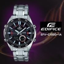 [CASIO] 카시오 에디피스 EFV-C100D-1A 남성시계 메탈밴드 손목시계