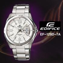 [CASIO] 카시오 에디피스 EF-129D-7A 남성시계 메탈밴드 손목시계