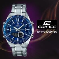 [CASIO] 카시오 에디피스 EFV-C100D-2A 남성시계 메탈밴드 손목시계
