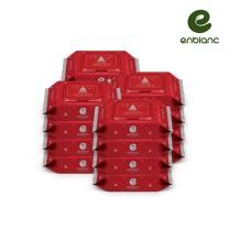 앙블랑 아기물티슈 크리스마스에디션 레드(블랙)휴대캡형 24매x16팩 XRM16