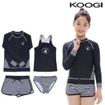 KG-L658 쿠기 여아동 수영복 상하의세트