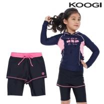 KG-L671 쿠기 여아동 수영복 하의레깅스5부 단품
