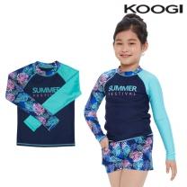 KG-L661 쿠기 여아동 수영복 상의 단품
