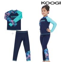 KG-L661+KG-L667 쿠기 여아동 수영복 상하의세트