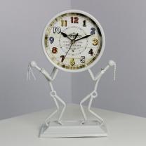 [바보사랑](KCRZ028)홀딩 빈티지 탁상시계 (화이트)
