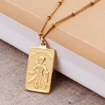[바보사랑]18K GOLD PLATING 어린왕자 목걸이 실버 925