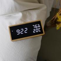 [바보사랑]리얼우드 LED 시계 - 온습도 표시