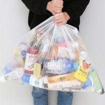 [바보사랑]모던데일 분리수거함 비닐봉투 80L(100매)
