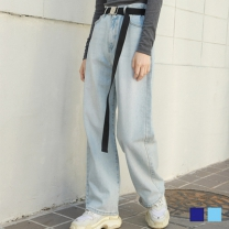 [바보사랑]지나 루즈핏 데님팬츠 (2colors)
