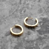 [바보사랑][써지컬스틸] 볼드원터치 귀걸이 20circle SV/GD