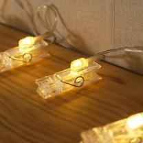 30구 LED 투명 집게 전구/LED조명 사진 집게전구