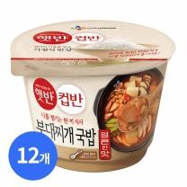 [CJ직배송]햇반 컵반 부대찌개국밥 261g X12개