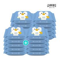 [슈퍼대디] 프랜즈 아기 물티슈 펭귄 휴대 리필 20매X20팩