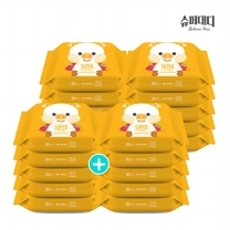 [슈퍼대디] 프랜즈 아기 물티슈 피그 휴대 리필 20매X20팩