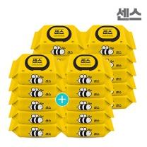 센스물티슈 꿀벌 캡형 100매 10팩+10팩
