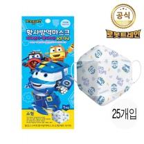 [CJ ENM] 로봇트레인 어린이 유아용 황사마스크 KF94(소형) X 25매