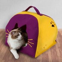[바보사랑]강아지 집 하우스 용품 펠트 이글루 고양이 숨숨집