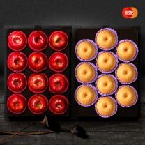 [1+1][이룸팜스]다복 명품사과.배 혼합세트5호 배4.5kg(9-10과)+사과3kg(12-13과)