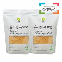 청정원 유기농흑설탕 1kgx2개
