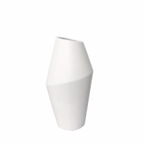 사선 무광 도자기 세라믹 인테리어 화병 (소)
