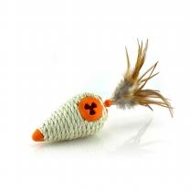 르칙 옥수수모양 고양이장난감 오렌지