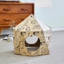 한발뚝딱 하우스 고양이 스크래쳐 HEXAGON