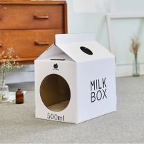 한발뚝딱 하우스 고양이 스크래쳐 MILK BOX