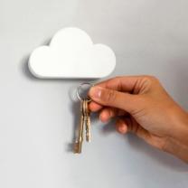 [바보사랑]인테리어 벽걸이 후크 구름 열쇠걸이