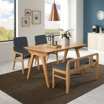 로딘 세인트 4인식탁세트/식탁/식탁세트/원목식탁