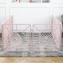한칸뚝딱 강아지 플라스틱 울타리 6P 핑크 L