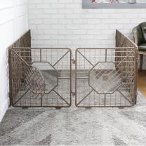 한칸뚝딱 강아지 플라스틱 울타리 6P 브라운 L