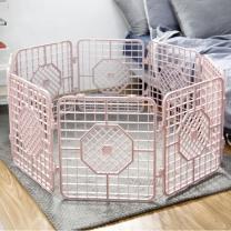 한칸뚝딱 강아지 플라스틱 울타리 10P 핑크 M