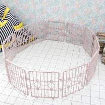 한칸뚝딱 강아지 플라스틱 울타리 12P 핑크 S