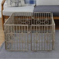 한칸뚝딱 강아지 플라스틱 울타리 8P 브라운 S