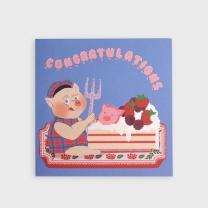 [바보사랑]Cake Time Folding Card
