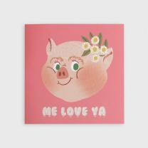 [바보사랑]Piggy Smile Folding Card