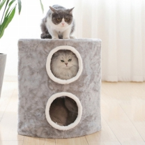 [바보사랑]고양이 집 숨숨 방석 쿠션 더블 하우스