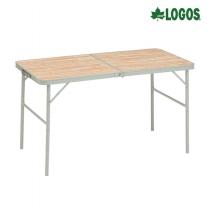 [로고스] 베이직 우드 캠핑 테이블 90 73180033 야외용 접이식 다용도 식탁 [로고스] 베이직 우드 캠핑 테이블 90