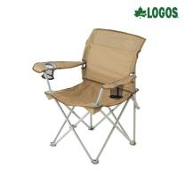 [로고스] 라이프 백 서포트 캠핑 체어 73174010 낚시 캠핑용 접이식 의자 [로고스] 라이프 백 서포트 캠핑체어