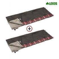 [로고스] 1+1 체크 포인트 침낭 0 (브라운) 72602020 캠핑 담요 사계절 방한용품 [로고스] [1+1] 체크 포인트 침낭 0 (브라운)