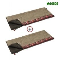 [로고스] 1+1 체크 포인트 침낭 2 (베이지) 72602010 캠핑 담요 사계절 방한용품 [로고스] [1+1] 체크 포인트 침낭 2 (베이지)