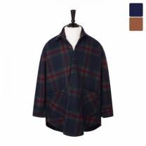 [바보사랑]오버핏 미소체크 셔츠 코트 CTM444