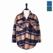 [바보사랑]오버핏 레인 울체크 셔츠 코트 CTM446